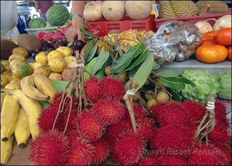 Farmer's Market selling an array of tropical fruit and vegetables