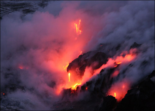 Lava in Volcanoes Nat'l Park