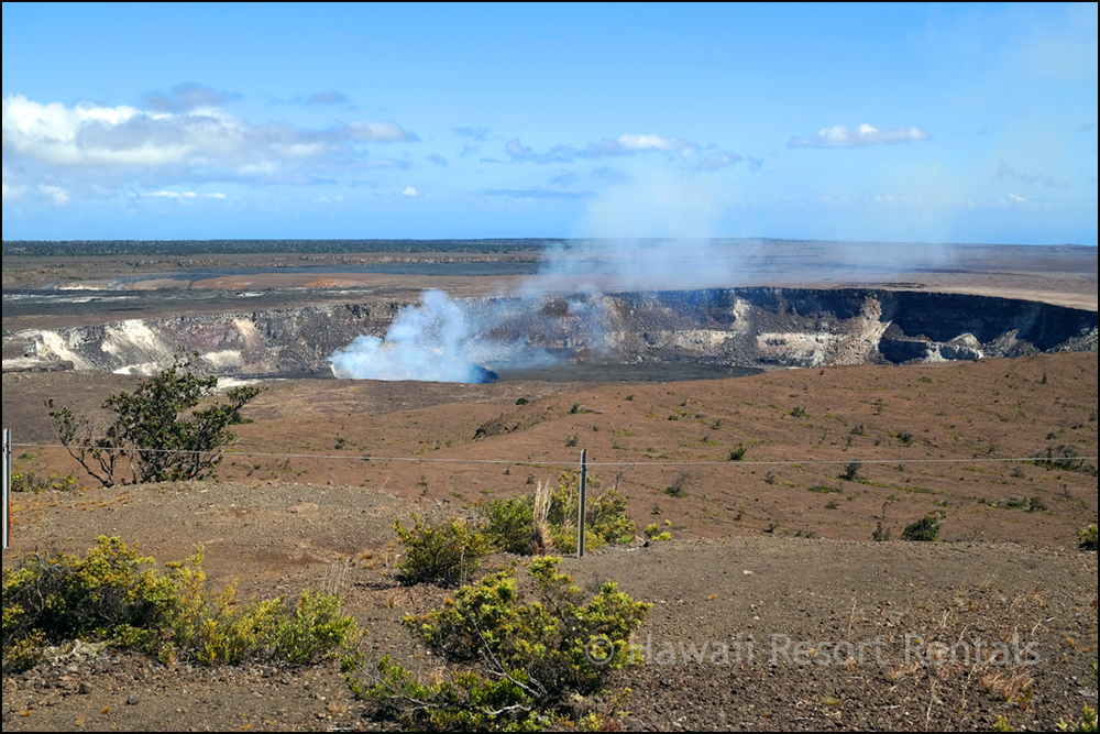 Steaming Kilauea Volcano in Volcanoes Nat'l Park