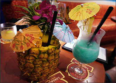 Marriott fancy drinks with pineapple