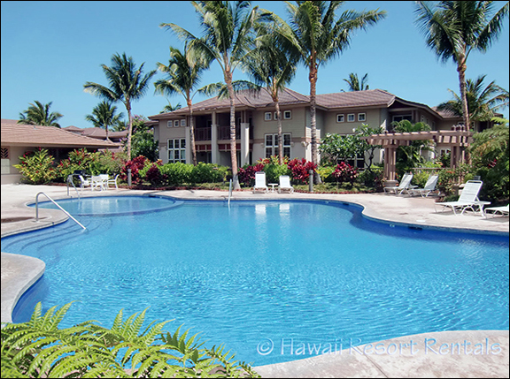 Waikoloa Colony Villas' large pool with toddler area at one end